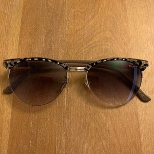 Betsey Johnson Half Rimmed Sunglasses